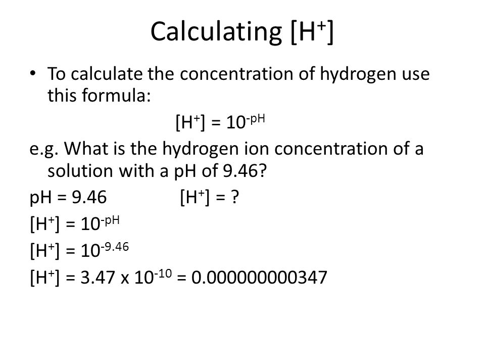 How to Calculate pH without a pH meter